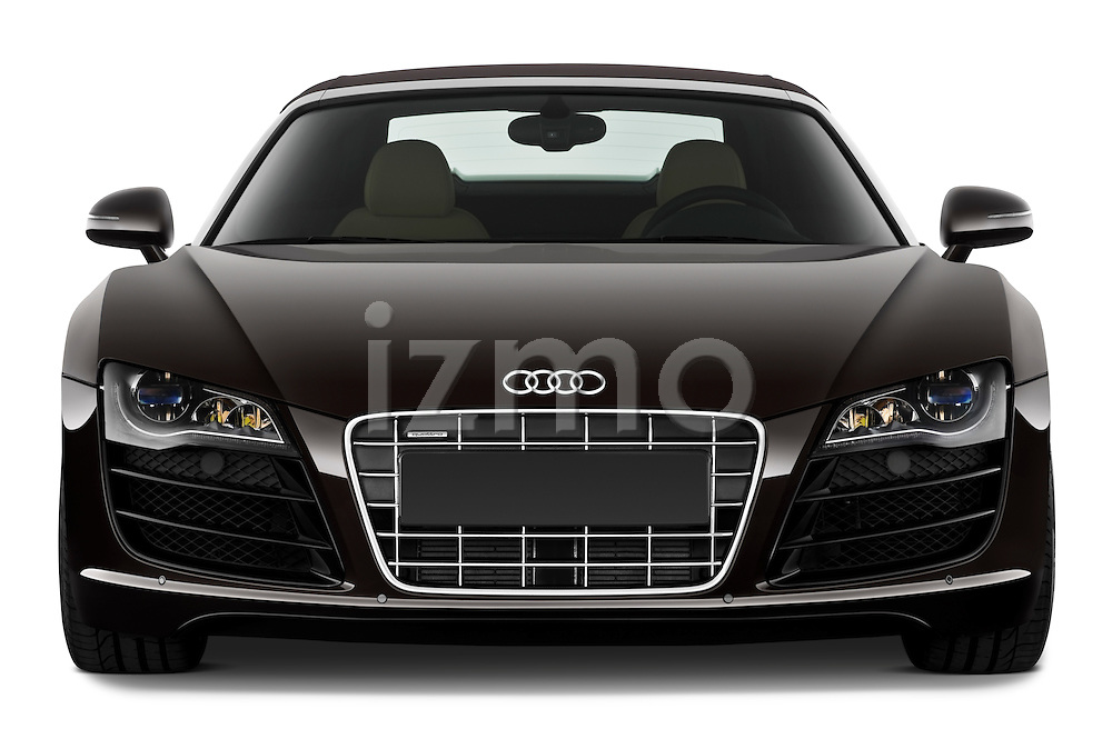 Straight front view of a 2010 - 2012 Audi R8 Spyder v10 2 Door Convertible.