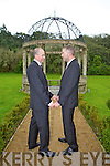 HAPPY COUPLE: James Bergins and Martin Greenwood who were had a Civil Ceremony on Thursday in Ballyseede Castle.