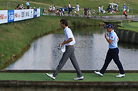 Pedro Oriol (ESP) and Paul Dunne (IRL) walking off the 18th during Round 3 of the HNA Open De France at Le Golf National in Saint-Quentin-En-Yvelines, Paris, France on Saturday 30th June 2018.<br /> Picture:  Thos Caffrey | Golffile