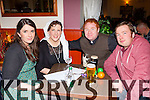 Amy Bennett, Aoife O'Dowd, Steve Benton and James Sweeney enjoying the Kfest Fr Ted table quiz in the Manor Inn on Friday night
