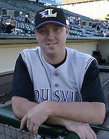 July 24, 2004:  Pitcher Brian Shackelford of the Louisville Bats, Triple-A International League affiliate of the Cincinnati Reds, during a game at Frontier Field in Rochester, NY.  Photo by:  Mike Janes/Four Seam Images