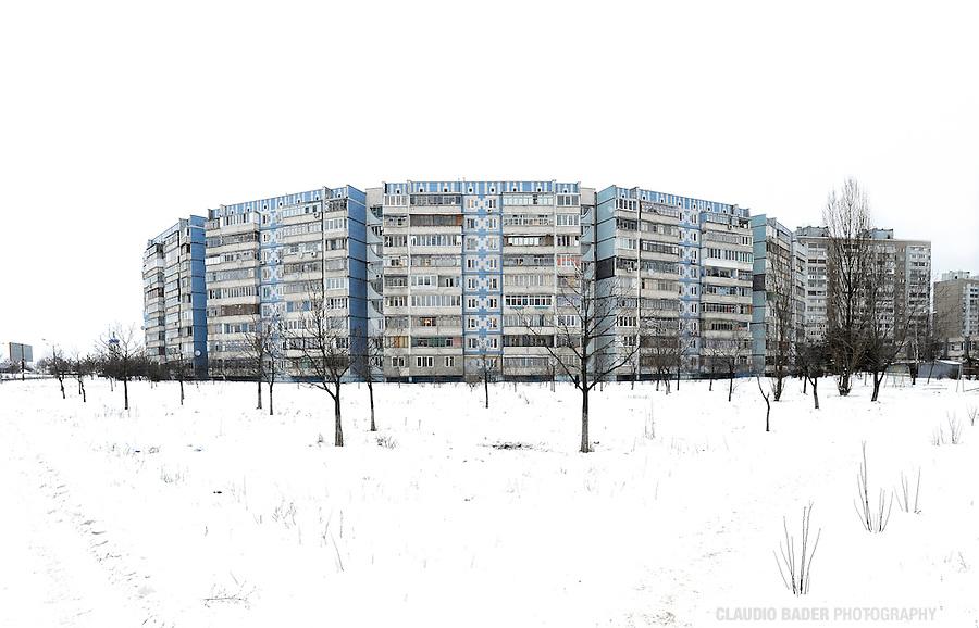 Ukraine, Kiev, East Europe, Prefabricated concrete slabs