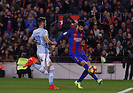 04.03.2017 Barcelona. La Liga game 26. Picture show Pique in action during game between FC Barcelona against Celta at Camop Nou
