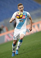 Napoli&rsquo;s Marko Rog in action during the Italian Serie A football match between Roma and Napoli at Rome's Olympic stadium, 4 March 2017. <br /> UPDATE IMAGES PRESS/Isabella Bonotto