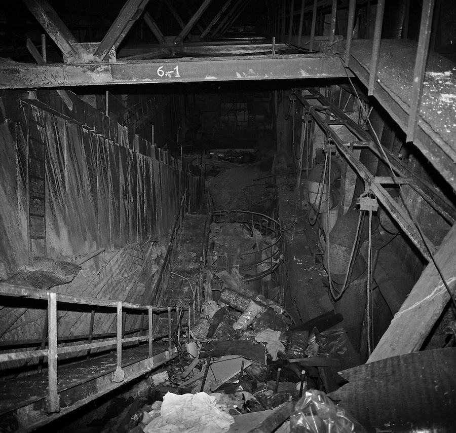 Chernobyl, Ukraine, Ocober 1995. The explosion at the ...