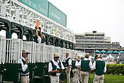Start crews work seasonally and are busy during Triple Crown season which includes the Kentucky Derby at Churchill Downs in Louisville, Kentucky.