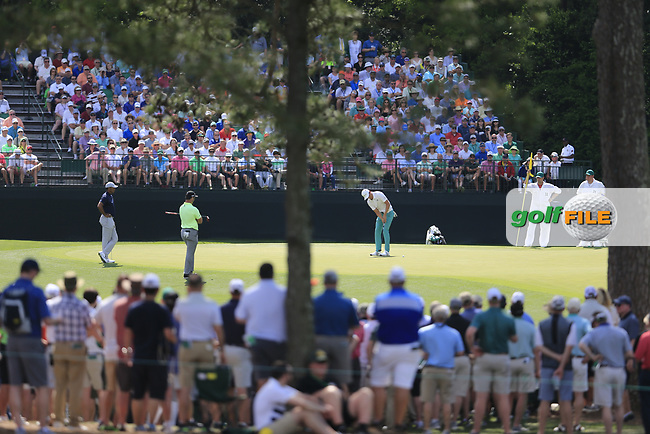 Haotong Li (CHN) during the 1st round at the The Masters , Augusta National, Augusta, Georgia, USA. 11/04/2019.<br /> Picture Fran Caffrey / Golffile.ie<br /> <br /> All photo usage must carry mandatory copyright credit (© Golffile | Fran Caffrey)