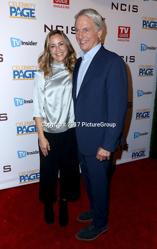 "STUDIO CITY, CA - NOVEMBER 6: (L-R) Maria Bello and Mark Harmon attend the TV Guide Magazine Cover Party for Mark Harmon and 15 seasons of the CBS show ""NCIS"" at River Rock at Sportsmen's Lodge on November 6, 2017 in Studio City, California. (Photo by JC Olivera/PictureGroup)"