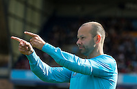 James Murray points to the crowd during The Impractical Jokers (Hit US TV Comedy) filming at Wycombe Wanderers FC at Adams Park, High Wycombe, England on 5 April 2016. Photo by Andy Rowland.