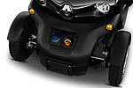 Car stock 2018 Renault Twizy Cargo 3 Door Hatchback engine high angle detail view