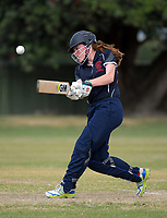 Action from the the New Zealand Secondary Schools 1st XI NZCT girls' cricket national finals match between Christchurch Girls' High School and New Plymouth Girls' High School at Fitzherbert Park in Palmerston North, New Zealand on Sunday, 3 December 2017. Photo: Dave Lintott / lintottphoto.co.nz