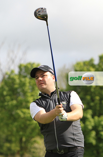 Peter Finnan (AM) on the 15th tee during Wednesday's Pro-Am round of the Dubai Duty Free Irish Open presented  by the Rory Foundation at The K Club, Straffan, Co. Kildare<br /> Picture: Golffile | Thos Caffrey<br /> <br /> All photo usage must carry mandatory copyright credit <br /> (&copy; Golffile | Thos Caffrey)