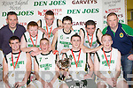St Brendan's who defeated Carrigaline in the Division 2 Mens final front row l-r; Declan doody, Darren O'Sullivan, stephen Hannafin, Joesph hannafin. Back row: denis Costello, Tomas Moore, sean McCarthy, Liam O'sullivan, Rory Griffin and Stephen O'Callaghan
