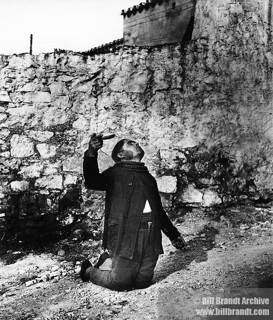 Spanish beggar in Barcelona