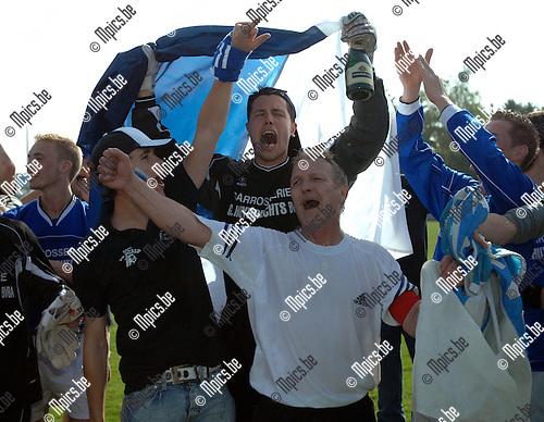 2007-04-22 / KVC Veerle Sport - FC Zwaneven: vreugde bij de spelers en supporters van Zwaneven