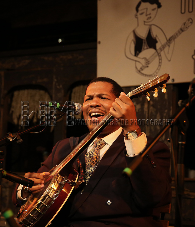 Blind Boy Paxton performs at the New York Hot Jazz Festival own September 30, 2018 at The McKittrick Hotel in New York City.