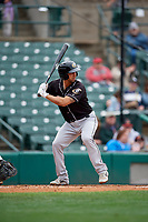 Charlotte Knights Seby Zavala (5) bats during an International League game against the Rochester Red Wings on June 16, 2019 at Frontier Field in Rochester, New York.  Rochester defeated Charlotte 11-5 in the first game of a doubleheader that was a continuation of a game postponed the day prior due to inclement weather.  (Mike Janes/Four Seam Images)