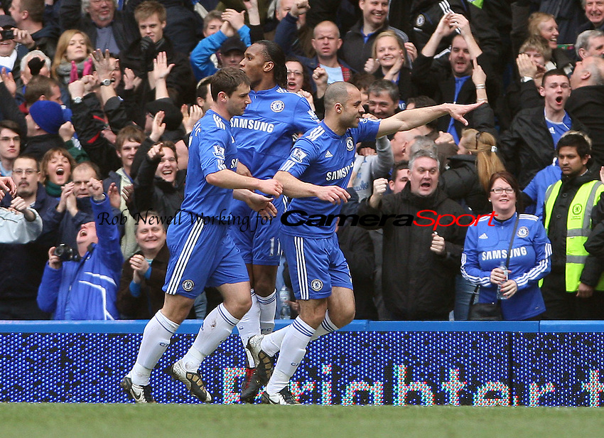 Alex celebrates after scoring Chelsea's 1st goal - Chelsea vs West Ham United, Barclays Premier League at Stamford Bridge, Chelsea - 13/03/10 - MANDATORY CREDIT: Rob Newell/TGSPHOTO - Self billing applies where appropriate - 0845 094 6026 - contact@tgsphoto.co.uk - NO UNPAID USE.