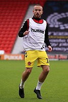 Fleetwood Town's Paddy Madden during the pre-match warm-up <br /> <br /> Photographer David Shipman/CameraSport<br /> <br /> The EFL Sky Bet League One - Doncaster Rovers v Fleetwood Town - Saturday 6th October 2018 - Keepmoat Stadium - Doncaster<br /> <br /> World Copyright &copy; 2018 CameraSport. All rights reserved. 43 Linden Ave. Countesthorpe. Leicester. England. LE8 5PG - Tel: +44 (0) 116 277 4147 - admin@camerasport.com - www.camerasport.com