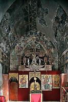 Small Uspenskaya church,(small church of Assumption),Nave,Iconostasis,Savina Monastery,near Herceg-Novi,Montenegro