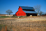 Red barn near Fairbury, Nebraska, USA