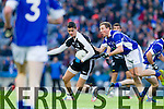 Trevor Wallace Ardfert in action against Robbie Keenan Saint Croan's in the Intermediate Football All Ireland Club Final in Croke Park on Saturday.