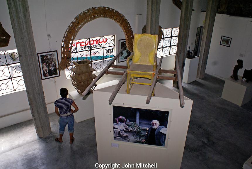 Tourist in the Edward James Museum  in Xilitla, San Luis Potosi state, Mexico