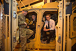 Skills Active Cymru<br /> Corporal Wayne Smith 2 Mercian with Michael Regan &amp; Morgan Lee from Stanwell School.<br /> Cardiff International Arena<br /> 23.10.14<br /> &copy;Steve Pope-FOTOWALES