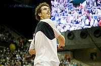 14-2-09,Rotterdam,ABNAMROWTT, Andy Murray slaat drie ballen in het publiek
