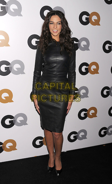 Terri Seymour.Arriving at the GQ Men Of The Year Party at Chateau Marmont Hotel in Los Angeles, California, USA..November 13th, 2012.full length dress black leather dress long sleeves .CAP/ROT/TM.©Tony Michaels/Roth Stock/Capital Pictures