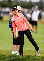 Lydia Ko searches for her ball out of bounds. McKayson NZ Women's Golf Open, Round Two, Windross Farm Golf Course, Manukau, Auckland, New Zealand, Friday 29 September 2017.  Photo: Simon Watts/www.bwmedia.co.nz