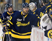 Elliott Sheen (Merrimack - 11) made it 4-1 with seven seconds remaining. - The Merrimack College Warriors defeated the University of New Hampshire Wildcats 4-1 (EN) in their Hockey East Semi-Final on Friday, March 18, 2011, at TD Garden in Boston, Massachusetts.