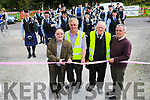 At the  6th annual Mid Kerry Vintage Rally in Castlemaine were Mayor Mike Flynn, Denis Tangney, Mike McKenna and Brendan Dennehy officially open the show with the Tralee Pipe and Drum Band