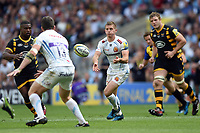Gareth Steenson of Exeter Chiefs passes the ball. Aviva Premiership Final, between Wasps and Exeter Chiefs on May 27, 2017 at Twickenham Stadium in London, England. Photo by: Patrick Khachfe / JMP