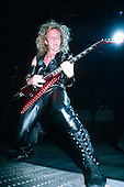 JUDAS PRIEST - KK Downing - performing live on the Mercenaries of Metal Tour at the Cow Palace in San Francisco Ca USA - Oct 07, 1988.  Photo credit: Annamaria DiSanto/IconicPix