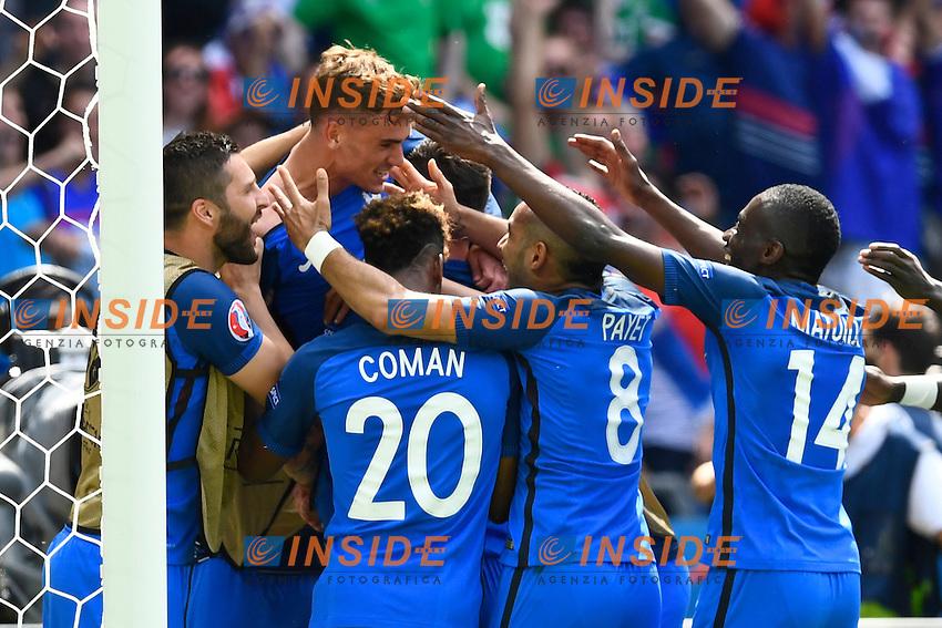 Antoine Griezmann (FRA) celebrates a goal Esultanza Gol <br /> Lyon 26-06-2016 Stade de Lyon Football Euro2016 France - Ireland / Francia - Irlanda Round of 16. Foto Alain Grosclaude/freshfocus / Insidefoto