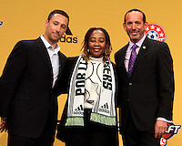 at the 2011 MLS Superdraft, in Baltimore, Maryland on January 13, 2010.