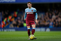 30th November 2019; Stamford Bridge, London, England; English Premier League Football, Chelsea versus West Ham United; Aaron Cresswell of West Ham United  - Strictly Editorial Use Only. No use with unauthorized audio, video, data, fixture lists, club/league logos or 'live' services. Online in-match use limited to 120 images, no video emulation. No use in betting, games or single club/league/player publications