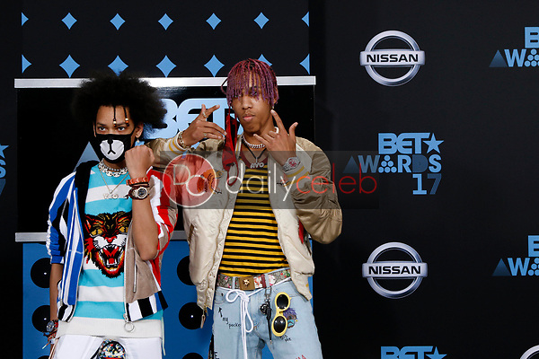 Ayo and Teo<br /> at the BET Awards 2017, Microsoft Theater, Los Angeles, CA 06-25-17<br /> David Edwards/DailyCeleb.com 818-249-4998
