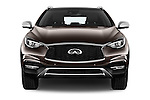 Car photography straight front view of a 2017 Infiniti QX0 Premium-Tech-4wd 5 Door Suv Front View