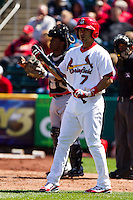 Niko Vasquez (7) of the Springfield Cardinals at bat during a game against the Springfield Cardinals on April 16, 2011 at Hammons Field in Springfield, Missouri.  Photo By David Welker/Four Seam Images.