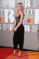 Zara Larsson<br /> arrives for the BRIT Awards 2017 held at the O2 Arena, Greenwich, London.<br /> <br /> <br /> &copy;Ash Knotek  D3233  22/02/2017