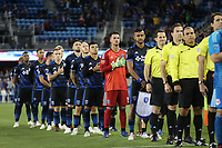 San Jose, CA - Saturday October 06, 2018: San Jose Earthquakes, JT Marcinkowski prior to a Major League Soccer (MLS) match between the San Jose Earthquakes and the New York Red Bulls at Avaya Stadium.