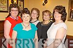 Local friends Margaret McCarthy, Nell May O'Grady, Ita Hartnett, Sadie Collins and Hannah Foley enjoying women's Christmas last Sunday night in Leen's Hotel, Abbeyfeale.