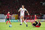 Shanghai FC Midfielder Akhmedov Odil (L) in action against Guangzhou Midfielder Xu Xin (R) during the AFC Champions League 2017 Quarter-Finals match between Guangzhou Evergrande (CHN) vs Shanghai SIPG (CHN) at the Tianhe Stadium on 12 September 2017 in Guangzhou, China. Photo by Marcio Rodrigo Machado / Power Sport Images