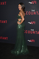 HOLLYWOOD, CA - OCTOBER 10: Cynthia Addai-Robinson at The Accountant World Premiere at the Chinese Theater in Hollywood, California on October 10, 2016. Credit: David Edwards/MediaPunch