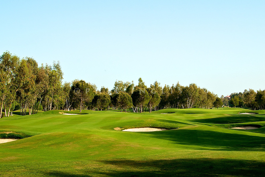 A general view of Antalya Golf Club - PGA Sultan Course, Belek, Turkey. Designed by David Jones/ European Golf Design. Picture Credit/ Phil Inglis