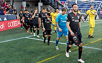 Annapolis, MD - Saturday April 14 2018: D.C. United defeated the Columbus Crew 1-0 in a MLS match at Navy - Marine Corps Memorial Stadium.