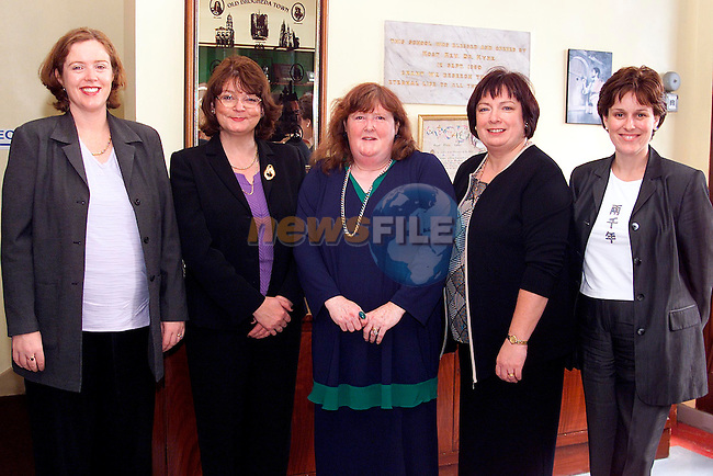 Niamh Mitchell, secetary, Mary Caffrey, principal, Dr. Mary Grehan, Joan Pentony, chairperson PPU and Gail McEvoy, treasurer PPU at the Sacred Heart School Reunion..Picture: Paul Mohan/Newsfile