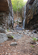 Pitcher Falls during the spring months. Located on Champney Brook next to Champney Falls Trail in Albany, New Hampshire USA.